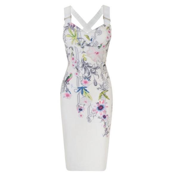 3661f81d2f3 NWT Ted Baker Passion Flower Midi Dress